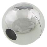 Edelstahl Magnetverschluss, rund, originale Farbe, 12.50x13mm, Bohrung:ca. 4mm, 20SetsSatz/Menge, verkauft von Menge