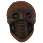 Antike Acrylperlen, Acryl, Schädel, opark, antik imitieren, braun, 25.50x17.50x14mm, Bohrung:ca. 2.5mm, 150PCs/Tasche, verkauft von Tasche