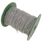 Twist Hekuri Oval Zinxhiri, ngjyrë platin praruar, asnjë, , nikel çojë \x26amp; kadmium falas, 2.50x3.50x0.60mm, :100m,  PC