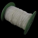 Twist Hekuri Oval Zinxhiri, Ngjyra argjend praruar, asnjë, , nikel çojë \x26amp; kadmium falas, 2.50x3.50x0.60mm, :100m,  PC