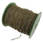 Twist Hekuri Oval Zinxhiri, Ngjyra antike bronz i praruar, asnjë, , nikel çojë \x26amp; kadmium falas, 3x4x0.80mm, :100m,  PC