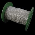 Twist Hekuri Oval Zinxhiri, Ngjyra argjend praruar, asnjë, , nikel çojë \x26amp; kadmium falas, 2x3x0.50mm, :100m,  PC