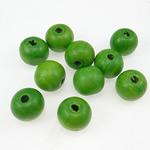 Beads druri, Round, i lyer, e gjelbër, 20mm, : 4.5mm, 100PC/Qese,  Qese