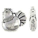 Zinklegierung Tier Perlen, antik silberfarben plattiert, frei von Nickel, Blei & Kadmium, 13x13x3.70mm, Bohrung:ca. 1.5mm, ca. 526PCs/kg, verkauft von kg