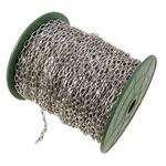 Zinxhiri Iron Oval, Hekur, ngjyrë platin praruar, asnjë, , nikel çojë \x26amp; kadmium falas, 4.40x7.60x1.20mm, :50m,  PC