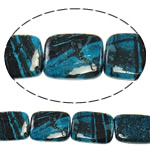 Regenbogen Venen Perlen, bunte Venen Stein, Rechteck, natürlich, 18x25x7mm, Bohrung:ca. 1.5mm, ca. 16PCs/Strang, verkauft per ca. 16 ZollInch Strang