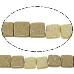 Picture Beads Jasper, Picture Jasper, Katror, natyror, 14x14x6mm, : 1.5mm, : 16Inç, 10Fillesat/Shumë,  Shumë