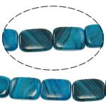 Regenbogen Venen Perlen, bunte Venen Stein, Rechteck, natürlich, blau, 15x20.50x5.50mm, Bohrung:ca. 1.5mm, ca. 19PCs/Strang, verkauft per ca. 15 ZollInch Strang