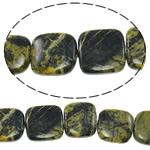 Regenbogen Venen Perlen, bunte Venen Stein, Quadrat, natürlich, 18x18x6mm, Bohrung:ca. 1.5mm, ca. 22PCs/Strang, verkauft per ca. 15.5 ZollInch Strang