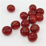 Beads druri, Round, i lyer, kuqe të errët, 7x8mm, : 2.5mm, 3330PC/Qese,  Qese