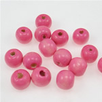 Beads druri, Round, i lyer, rozë, 11x12mm, : 3.5mm, 860PC/Qese,  Qese