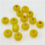 Beads druri, Round, i lyer, i verdhë, 7x8mm, : 3mm, 3570PC/Qese,  Qese