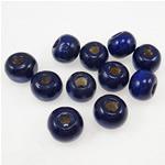 Beads druri, Round, i lyer, vjollcë, 7x8mm, : 2.5mm, 3570PC/Qese,  Qese