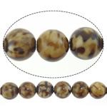 Lule natyrale Beads Ice agat, Ice Flower agat, Round, 8mm, : 1mm, : 15.5Inç, 5Fillesat/Shumë,  Shumë