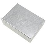 Byzylyk karton Box, Drejtkëndësh, argjend, 92x66x28mm, 10PC/Qese,  Qese
