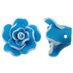 Beads polimer balta, Polymer Clay, Lule, asnjë, Skyblue, 20x9mm, : 1.5mm, 100PC/Qese,  Qese
