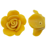 Polymer Ton Perlen , Blume, gelb, 23x11mm, Bohrung:ca. 2mm, 100PCs/Tasche, verkauft von Tasche