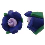 Polymer Ton Perlen , Blume, flache Rückseite, farbenfroh, 11x7mm, 100PCs/Tasche, verkauft von Tasche