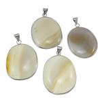 Agat pendants bizhuteri, Agat përziera, Oval, i përzier, 36-39mm, : 5x8mm, 10PC/Qese,  Qese