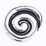 Zinklegierung flache Perlen, Münze, antik silberfarben plattiert, frei von Blei & Kadmium, 9x8x5mm, Bohrung:ca. 2mm, ca. 769PCs/Tasche, verkauft von Tasche