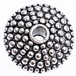 Beads bizhuteri Alloy zink, Numërator, Ngjyra antike argjendi praruar, asnjë, , nikel çojë \x26amp; kadmium falas, 11x6mm, : 2mm, 476PC/Qese,  Qese