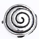 Zink Legierung Perlen Schmuck, Zinklegierung, antik silberfarben plattiert, frei von Blei & Kadmium, 8x4mm, Bohrung:ca. 1.5mm, ca. 1666PCs/Tasche, verkauft von Tasche