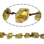 Natürliche Beschichtung Quarz Perlen, Natürlicher Quarz, Klumpen, plattiert, keine, 9.5-30.5mm, Bohrung:ca. 2-3mm, Länge:16.5 ZollInch, 20SträngeStrang/Menge, verkauft von Menge