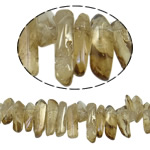 Natürliche Beschichtung Quarz Perlen, Klumpen, bunte Farbe plattiert, 13-24mm, Bohrung:ca. 1.2-1.5mm, Länge:15.5 ZollInch, 20SträngeStrang/Menge, verkauft von Menge