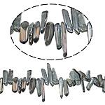 Natürliche Beschichtung Quarz Perlen, Klumpen, bunte Farbe plattiert, 14-40mm, Bohrung:ca. 1.2-1.5mm, Länge:15.5 ZollInch, 20SträngeStrang/Menge, verkauft von Menge