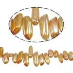 Natürliche Beschichtung Quarz Perlen, Klumpen, bunte Farbe plattiert, 15-33mm, Bohrung:ca. 1.2-1.5mm, Länge:15.5 ZollInch, 20SträngeStrang/Menge, verkauft von Menge