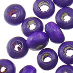 Beads druri, Numërator, i lyer, vjollcë, 2x3mm, : 1.6mm, 33333PC/Qese,  Qese