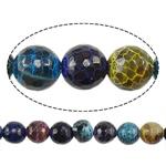 Natyrore kërcitje Beads Zjarri agat, YouTube Fire agat, Round, natyror, 10mm, : 1mm, : 15Inç, 5Fillesat/Shumë,  Shumë