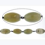 Natyrore Gri Beads agat, Grey agat, Oval, 18.50x28.50mm, : approx 16mm, : 16Inç, 5Fillesat/Shumë,  Shumë