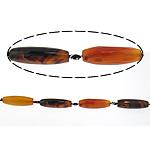 Beads Mrekulli Natyrore agat, Mrekullia agat, Oval, 12x42mm, : 2mm, : 17Inç, 5Fillesat/Shumë,  Shumë