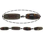 Natyrore kërcitje Beads Zjarri agat, YouTube Fire agat, Oval, natyror, 13x31mm, : 2.5mm, : 15Inç, 5Fillesat/Shumë,  Shumë