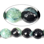 Beads Natyrore kuarc Ice agat, Ice kuarc agat, Round, asnjë, faceted, 14mm, : 1mm, : 15Inç, 5Fillesat/Shumë,  Shumë