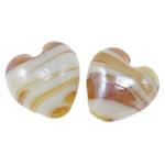 Plattierte Lampwork Perlen, Herz, 20x15mm, Bohrung:ca. 2mm, 100PCs/Tasche, verkauft von Tasche
