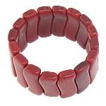 Fashion Bracelets Turquoise, Bruz Natyrore, Nuggets, i lyer, i kuq, 12.50x31.80x6.50mm, : 7.4Inç, 30Fillesat/Shumë,  Shumë