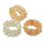 Ujërave të ëmbla Pearl Ring Finger, with Pearl kulturuar ujërave të ëmbla, 13mm, :8, 10PC/Qese,  Qese
