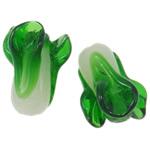 Handgewickelte Perlen, Lampwork, Gemüse, handgemacht, grün, 19x13mm, Bohrung:ca. 2.5mm, 100PCs/Tasche, verkauft von Tasche