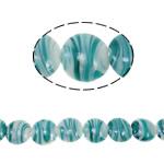 Beads praruar Lampwork, Round Flat, i praruar, 20x21x11mm, : 2mm, 100PC/Qese,  Qese