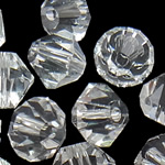 Swarovski Crystal Beads, Bicone, Kristal, 6mm, : 1mm, 50PC/Qese,  Qese