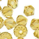 Swarovski Crystal Beads, Bicone, Champagne Gold, 6mm, : 1mm, 50PC/Qese,  Qese