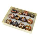 Ring Finger lampwork, rërë ari, ngjyra të përziera, 29x27x23mm, : 18mm, :8, 12PC/Kuti,  Kuti