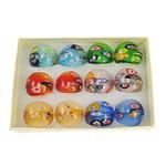 Ring Finger lampwork, ngjyra të përziera, 29x28x24mm, : 18mm, :8, 12PC/Kuti,  Kuti