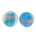 Goldsand Lampwork Perlen, rund, 12mm, Bohrung:ca. 2mm, 100PCs/Tasche, verkauft von Tasche