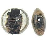 Goldsand Lampwork Perlen, flache Runde, 20-20.5x19-20x10.5-11mm, Bohrung:ca. 1.5mm, 100PCs/Tasche, verkauft von Tasche