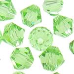 Swarovski Crystal Beads, Bicone, Peridot, 4mm, : 1mm, 50PC/Qese,  Qese