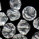 Swarovski Crystal Beads, Bicone, Kristal, 3mm, : 1mm, 50PC/Qese,  Qese