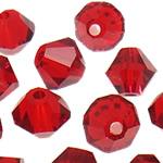 Swarovski Crystal Beads, Bicone, Siam, 3mm, : 1mm, 50PC/Qese,  Qese
